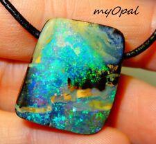 +++ TOP GEM Boulder Opal Anhänger - herrlicher Stein ! - siehe VIDEO by myOpal !