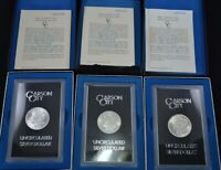 (1)BULK Lot 1882 or 1883 or 1884 CC Carson City GSA Morgan Silver Dollar Box/COA
