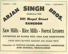 1953 Arjan Singh Brothers Mogul Street Rice Mills Sawmills Ad