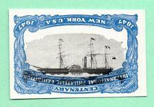 Inverted Vignette Error from 1947 Old US Stamp Imperf NoGum UpsideDown Steamship