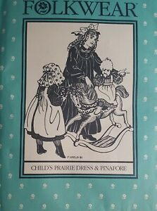 Child/'s Prairie Dress /& Pinafore 213 girl/'s sizes 2-10 Folkwear