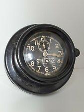 Us Navy Mark I Boat Clock 1942 Vintage Nautical 16316 Chelsea