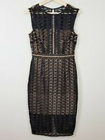 [ PORTMANS SIGNATURE ] Womens Black Lace Sleeveless Dress  | Size AU 10 or US 6