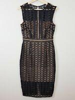 [ PORTMANS SIGNATURE ] Womens Black Lace Sleeveless Dress  | Size AU 10 or US 6