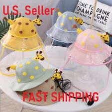 baby kids transparent face shield protective hat
