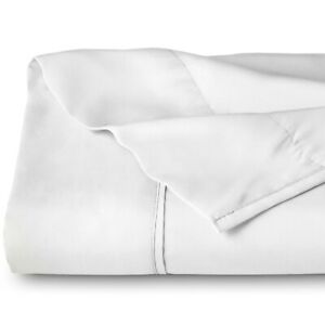 Flat / Top Sheet, Soft Breathable Premium Brushed Ultra-Soft Bed Sheet - White