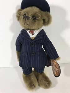 """Brass Button Bears """"BAXTER"""" 12"""" Plush Bear 1900s by Pickford Bears With Tags"""