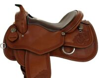 Gorgeous Chestnut color Western Saddle Co Reining Leather Saddle/ All Sizes
