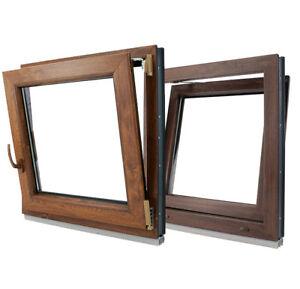 Finestre in PVC Colori NOCE e QUERCIA D'ORATA Aluplast ID 4000 Larghezza: 900mm