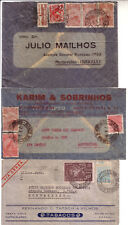 BRAZIL 1934/42 LOT OF THREE AIR MAIL COVERS TO URUGUAY