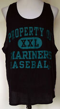 97 Seattle Mariners Baseball Blue Cotton/Poly Mesh Russell Athletic Tank Top Xxl