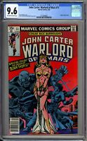 John Carter Warlord of Mars 11 CGC Graded 9.6 NM+ Marvel Comics 1977