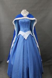 New Arrived Sleeping Beauty Aurora Princess Blue Cosplay Costume Dress