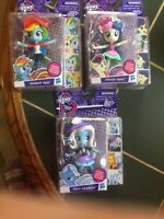 "3- NIB -MLP-Equestria Girls"". 5"" Rainbow Dash, Trixie Lulamoon, Sweetie Drops!"