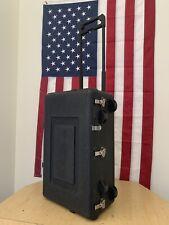 ECS (Carry On Size Travel Case- Lockable 23 x 14 x 7 Black W/ Wheels & Handle
