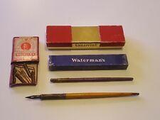 Vintage Fountain Pen Lot Nibs Watermans Box