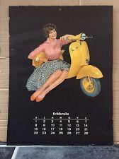 VESPA PIAGGIO Vintage Italian FEBRUARY NOVEMBER 1959 Calendar MODS GS150 SCOOTER