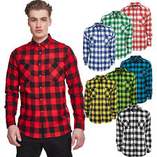 Urban Classics Checked Flanell Holzfäller Karo Hemd Button Down Karohemd Baumwol