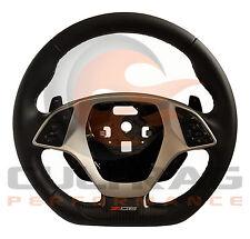 2015-2018 Corvette Steering Wheel Automatic Black Leather Gray Stitch Z06 Logo