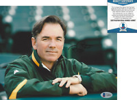 BILLY BEANE OAKLAND ATHLETICS GM MONEYBALL SIGNED 8x10 PHOTO D BECKETT COA BAS