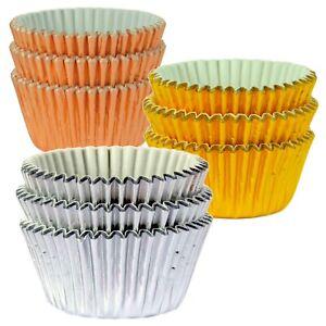 Premium Quality Metallic Foil Cupcake Cases - Silver, Gold & Rose Gold