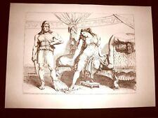 Litografia Bacchide Enunco Mitridate Monime L'Istoria Romana Bartolomeo Pinelli
