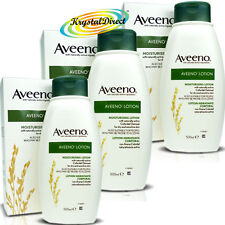 3x Aveeno Lotion Colloidal Oatmeal Moisturiser 500ml For Dry and Sensitive Skin