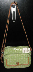 Fossil Marlow Camera Crossbody Handbag Purse Green NWT
