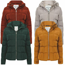 Tokyo Laundry Women's Wookie Quilted Hooded Coat Puffer Jacket Padded Puffa Warm