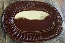 "Pfaltzgraff Palladium Chestnut 16"" Oval Serving Platter"