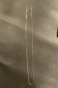 14 KT Thin Yellow Gold Necklace 1.8 grams in weight 16 Inch length
