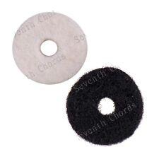 100Pcs Round Soft Felt Fabric Guitar Strap Lock Button Mount Washer Cushions