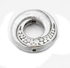 30 Metallperlen Verbinder 15mm Tibet Silber Donut Perlen Ring Spacer F212