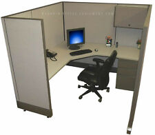 """6x6 x67"""" H Refurbished Herman Miller Cubicle Work Stations - NEW Paint / Fabric"""