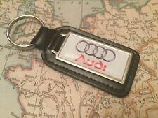 Audi Calidad Piel Auténtica Negro Llavero Rectangular Un 1 2 3 4 5 6 7 8Q Rs