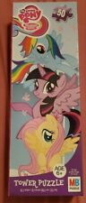 """My Little Pony 50 Piece 10.3"""" x 9.1"""" Tower Puzzle Friendship is Magic MB PUZZLE"""
