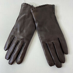 Sz: S Fownes Womens Tech Whip Stitch Leather Faux Fur Lined Gloves NWOT