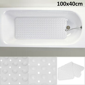 Extra Large Non-Slip Bath Mat Bathtub Bathroom Shower Mat Rubber Strong Suction