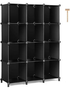 TomCare Cube Storage 12-Cube Bookshelf Closet Organizer Storage Shelves Shelf