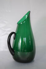 "Vintage Blenko LARGE 13.75"" Art Glass Pitcher #939-P Green Winslow Anderson"