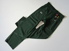 NWT Under Armour Pre-Game Woven in Green Ankle Zip Pull-on Warm Up Pants M