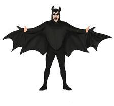 Adult Mens Gothic Vampire Bat Wings Fancy Dress Halloween Costume