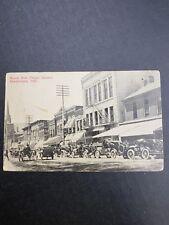 Greensburg Indiana square post card rare history old cars main street