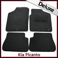 KIA PICANTO (2009 2010 2011) LUSSO SU MISURA tappetini per AUTO 1300g 2 Clip