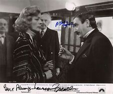 Hand Signed 8x10 Original photo FINNEY & BACALL Murder Orient Express + my COA