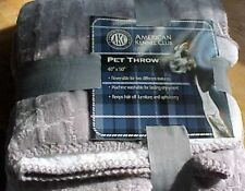 Akc American Kennel Club Pet Throw, Gray 40 X 50 New Free Ship Us