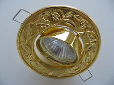 GOLD RECESSED GEORGIAN EDWARDIAN STYLE SPOTLIGHT DOWNLIGHT SURROUND LED MR16
