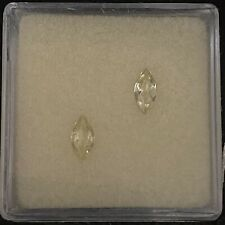 CHRYSOBERYL .40CT MARQUISE 2PCS FOR 6X3MM MOUNTINGS AS SHOWN 2