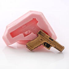 Small Pistol Silicone Mold Fondant Candy Chocolate Resin Clay Jewelry Mold (972