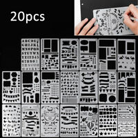 20pcs Bullet Journal Stencil Set Plastic Planner DIY Drawing Template Diary